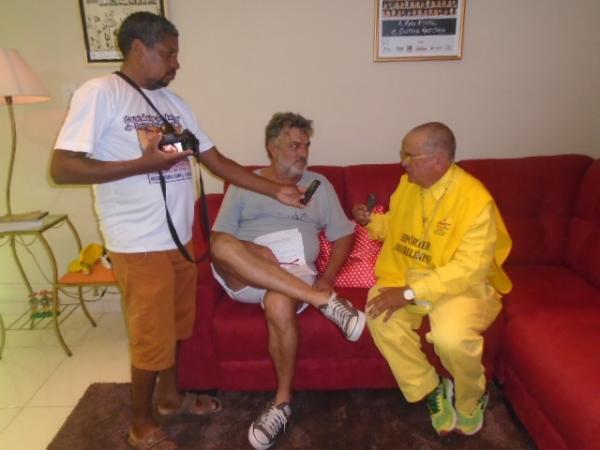 Eu gostaria de dar um mergulho no Rio Parnaíba, diz Werner Schunemann em Floriano.(Imagem:FlorianoNews)