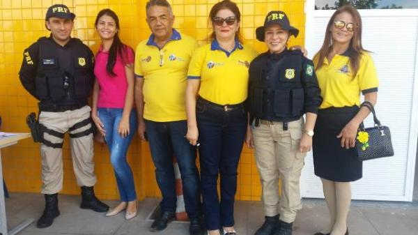PRF realiza evento de educação para o trânsito em alusão ao movimento do Maio Amarelo.(Imagem:FlorianoNews)
