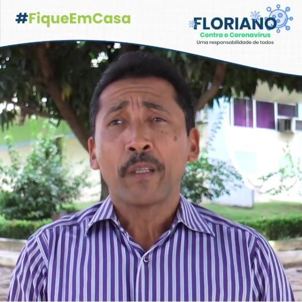 Promotor de Justiça de Floriano faz apelo à população de isolamento social nessa Semana Santa(Imagem:Divulgação)