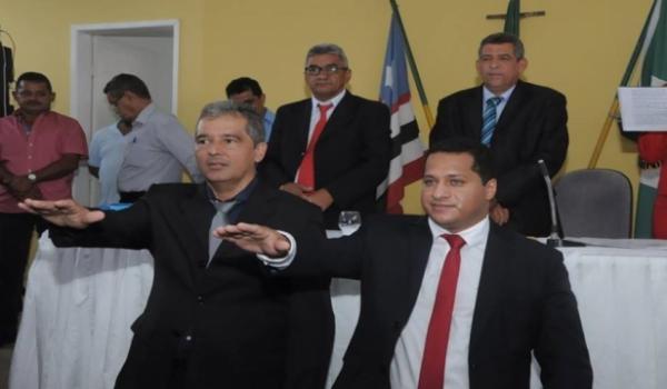 Gleydson Resende (PCdoB), e seu vice José Augusto Alves(Imagem:Barãonet)
