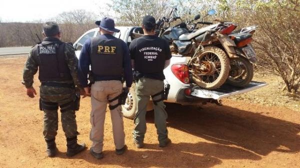 Operação da PRF combate crimes ambientais no Parque Nacional da Serra da Capivara.(Imagem:PRF)