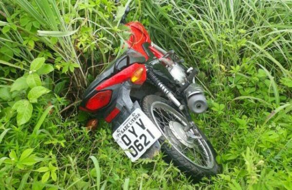 Motocicleta recuperada pela PM(Imagem:3° BPM)