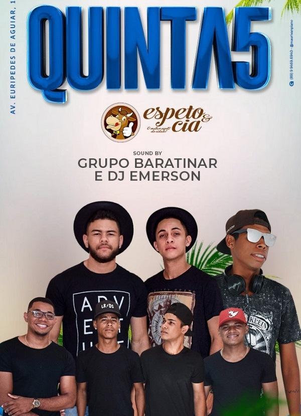 Grupo Baratinar e DJ Emerson (Imagem:Divulgação)