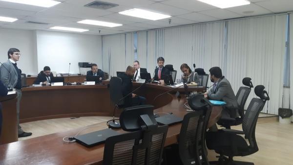Felipe Melo, do Palmeiras, durante julgamento no STJD.(Imagem:Raphael Zarko)