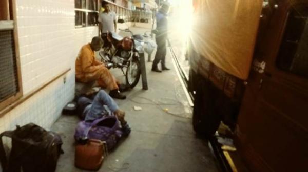 Casal fica ferido em acidente provocado por fio caído (Imagem:FlorianoNews)