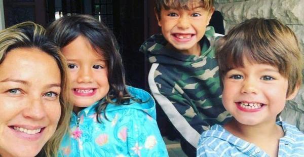 Luana Piovani e os filhos.(Imagem:Reprodução/Instagram)