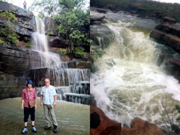 TV Japonesa grava imagens das cachoeiras de Juazeiro do Piauí.(Imagem:Campomaioremfoco)