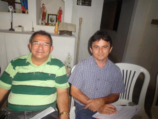 Salomão Holanda, Vice-prefeito de Floriano e Secretário de Desenvolvimento Rural, Edvaldo Araújo.(Imagem:FlorianoNews)