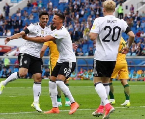 Copa das Confederações: Alemanha vence Austrália em jogo de cinco gols.(Imagem:Divulgação)