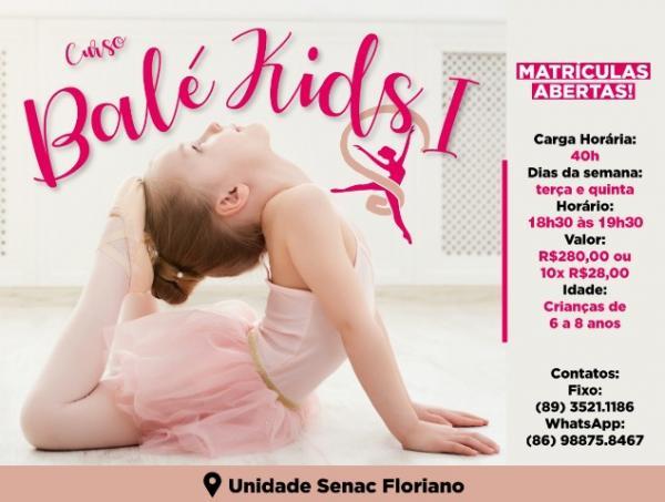 Senac de Floriano abre inscrições para curso de Balé Kids.(Imagem:Divulgação)