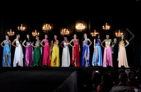 Todas as 12 candidatas perfiladas.(Imagem:Marcos Dantas/G1 AM)