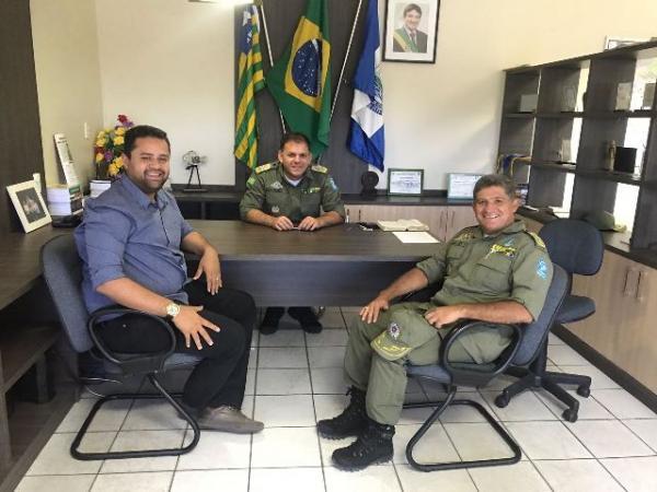 Vereador Akassio acompanha Coronel Rubens Lopes em reunião com Comando Geral da PM.(Imagem:Akassio Alves)
