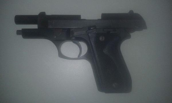 Arma apreendida(Imagem:Força Tática)