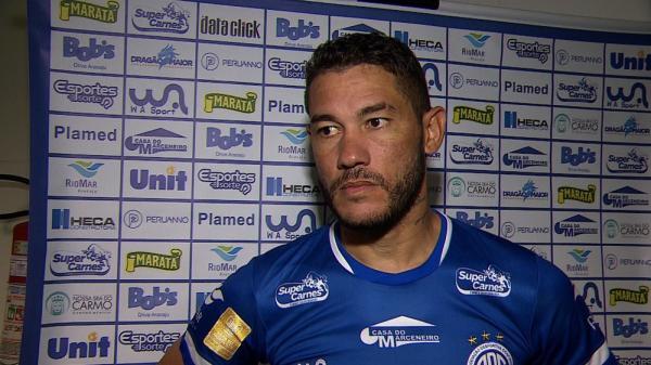 Betinho, atacante do Confiança.(Imagem:Reprodução/TV Sergipe)
