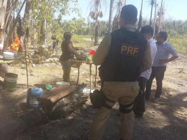 Acompamento flagrado na operação.(Imagem:Divulgação/PRF)