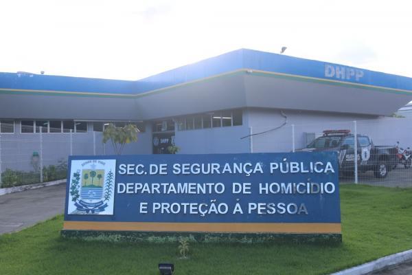 Departamento de Homicídio e Proteção à Pessoa (DHPP) em Teresina.(Imagem:Lucas Marreiros/G1)