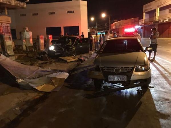 Colisão entre dois veículos deixa um morto no Centro de Floriano.(Imagem:FlorianoNews)
