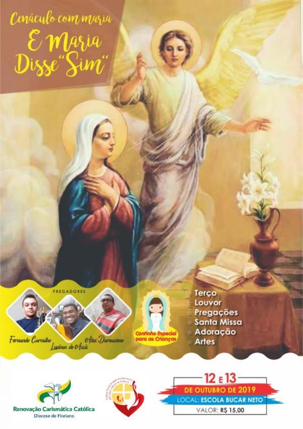 Renovação Carismática Católica realizará encontro nos dias 12 e 13 de outubro em Floriano.(Imagem:RCC)