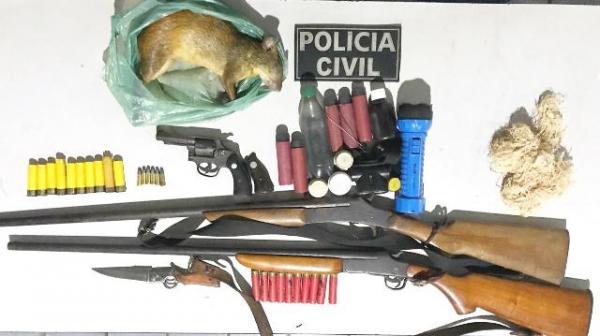 Polícia Civil de Barão de Grajaú apreende armas e prende suspeito durante operação.(Imagem:Polícia Civil)