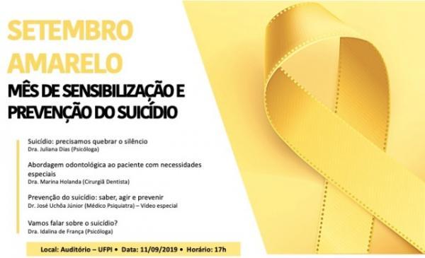 UFPI de Floriano realiza evento de sensibilização ao suicídio pelo