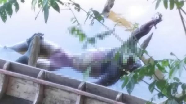 Corpo não identificado é encontrado por pescadores no Rio Parnaíba.(Imagem:Corpo de Bombeiros)