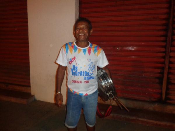 Negro Cícero, presidente do Bloco Tradição(Imagem:FlorianoNews)