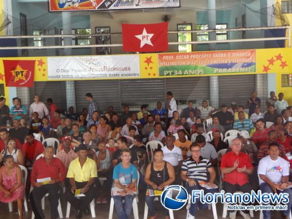 Militantes do PT se reúnem em Floriano para comemorar 34 anos de fundação do Partido.(Imagem:FlorianoNews)