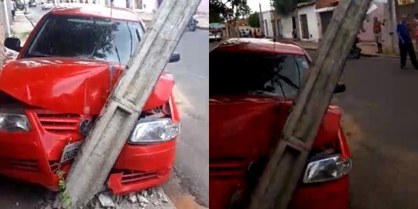 Criminosos fogem em carro roubado e provocam acidente na zona norte de Teresina(Imagem:Divulgação)