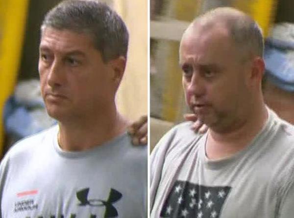 Ronnie Lessa e Élcio Queiroz vão a audiência de custódia.(Imagem:Reprodução/TV Globo)