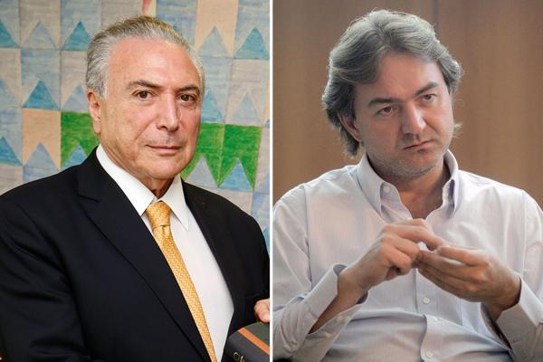 O presidente Michel Temer e o empresário Joesley Batista.(Imagem:Alan Santos/PR Eliaria Andrade/Agência o Globo)