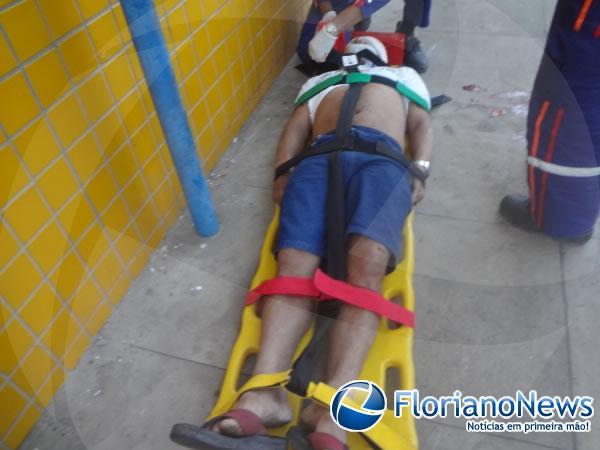 Acidente de moto deixa vítima gravemente ferida em Floriano.(Imagem:FlorianoNews)