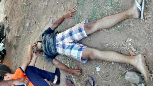 Jovem fica ferido em acidente de trânsito em Floriano.(Imagem:Divulgação/Whatsapp)