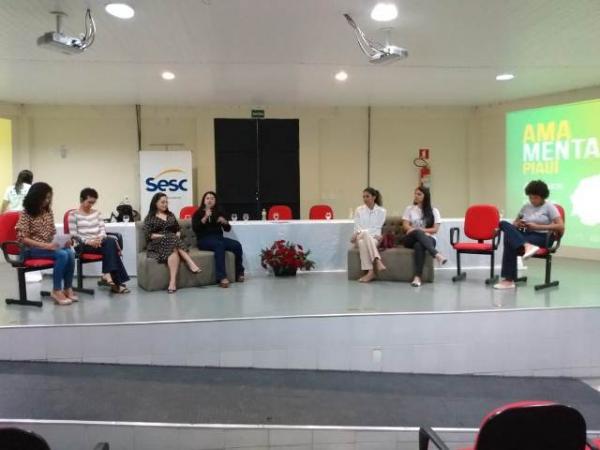 Ação do Agosto Dourado dialoga sobre a importância da amamentação em Floriano.(Imagem:FlorianoNews)