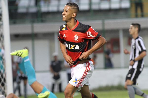 Jorge, Garoto do Ninho, após marcar em clássico contra o Botafogo.(Imagem:Gilvan de Souza/Flamengo)