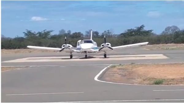 O empresário foi transferido num avião PA 34 Piper Seneca. (Imagem:Divulgação)