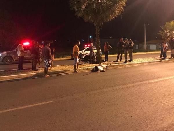 Homem fica ferido em acidente na Avenida Calisto Lobo(Imagem:FlorianoNews)