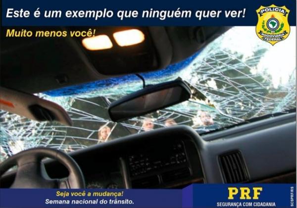 Estudo estima custo dos acidentes de trânsito em rodovias.(Imagem:PRF)