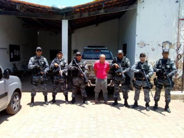 Força Tática cumpre mandado de prisão preventiva em Floriano.(Imagem:Força Tática)