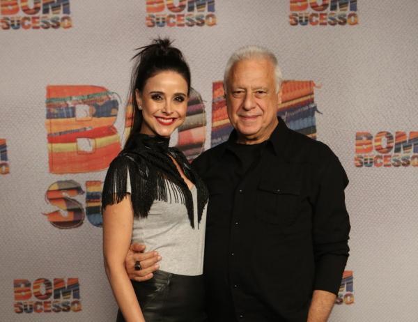 Alexandra Martins e Antonio Fagundes no lançamento de