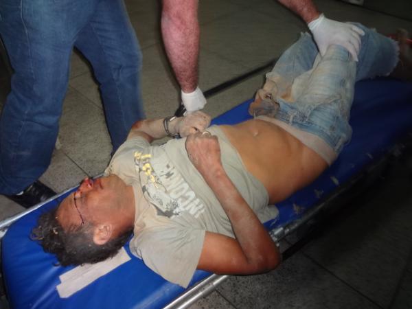 Acidente de moto deixa homem gravemente ferido.(Imagem:FlorianoNews)