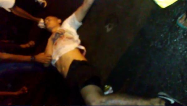 Jovem é baleado durante prévia de carnaval no centro de Floriano.(Imagem:Divulgação)
