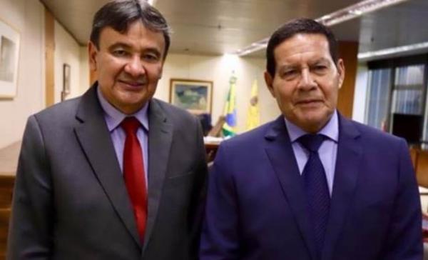 Governador recebe visita do vice-presidente Hamilton Mourão.(Imagem:Ascom)