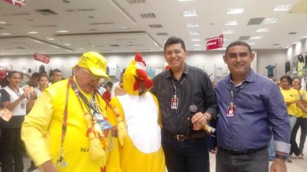 Filial de Floriano apresenta mascote do Madrugadão Paraíba.(Imagem:FlorianoNews)