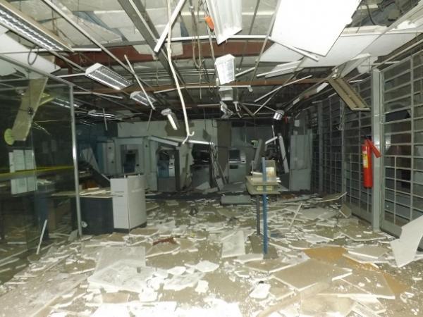 Assaltantes explodem agências bancarias no município de Amarante durante a madrugada.(Imagem:Denison Duarte)