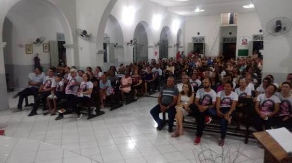Missa lembra um ano da morte da professora Solimar.(Imagem:FlorianoNews)