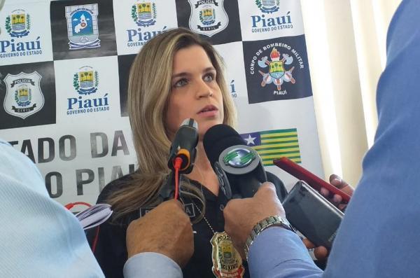 Delegada Tatiana Trigueiros, da Deccor.(Imagem:Gilcilene Araújo/G1)
