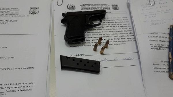 Arma apreendida(Imagem:Jc24horas)