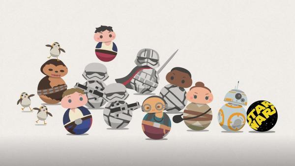 Personagens animados da série Star Wars Roll out(Imagem:Divulgação/LucasFilm)