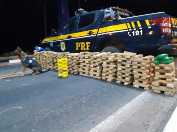 PRF apreende droga avaliada em R$ 2 milhões em Floriano.(Imagem:PRF)