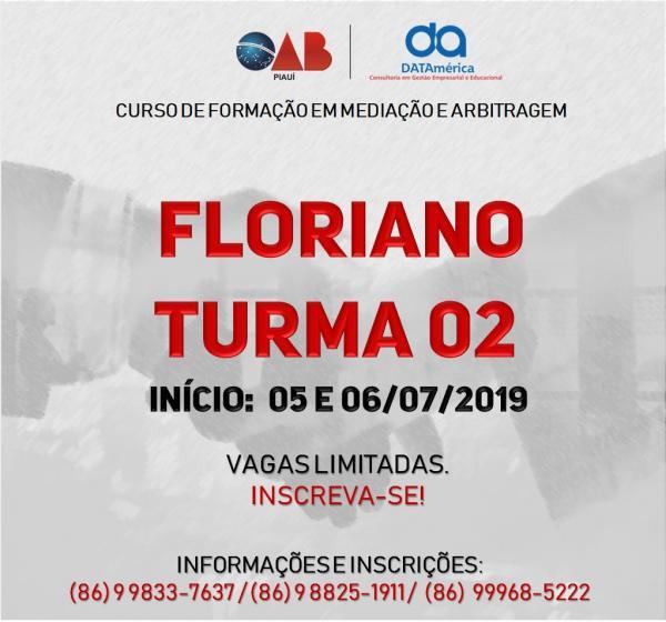 Curso de Formação em Mediação e Arbitragem em Floriano.(Imagem:Divulgação)